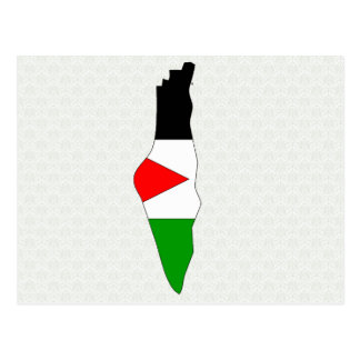 Palestine Flag Map full size Post Cards