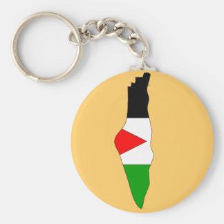 Palestine flag map keychain