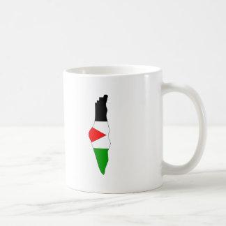 Palestine flag map coffee mugs