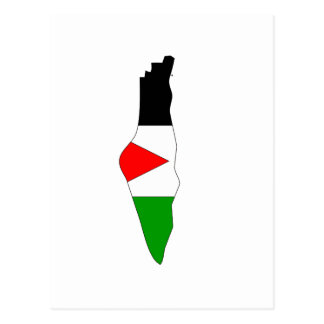 Palestine flag map post cards