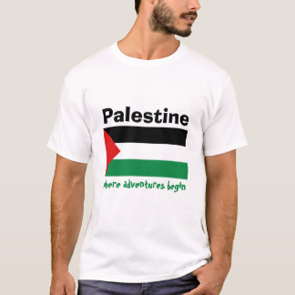 Palestine Flag + Map + Text T-Shirt