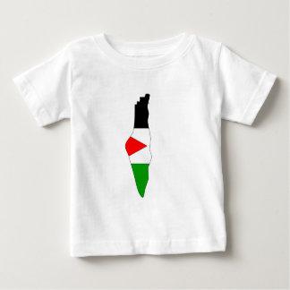 Palestine flag map tee shirt