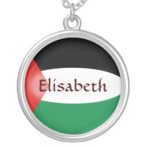 Palestine Flag   Name Necklace