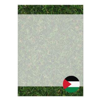 Palestine Flag on Grass Card