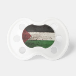 Palestine Flag on Old Wood Grain Pacifier