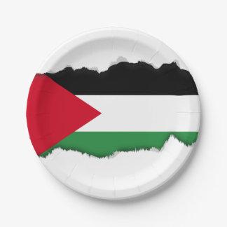 Palestine Flag Paper Plate