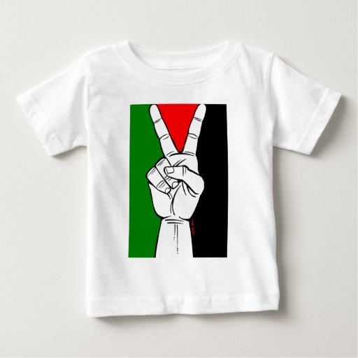PALESTINE FLAG PEACE SIGN BABY T-Shirt
