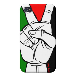 PALESTINE FLAG PEACE SIGN CASE FOR iPhone 4