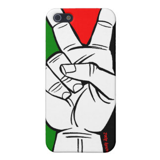 PALESTINE FLAG PEACE SIGN COVER FOR iPhone SE/5/5s
