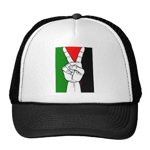PALESTINE FLAG PEACE SIGN HATS