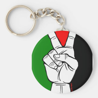 PALESTINE FLAG PEACE SIGN KEY CHAIN