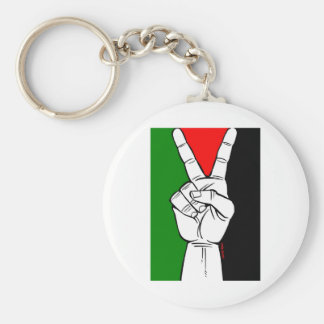 PALESTINE FLAG PEACE SIGN KEYCHAINS