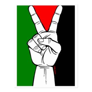 PALESTINE FLAG PEACE SIGN POSTCARD