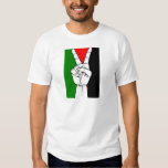 PALESTINE FLAG PEACE SIGN T SHIRT