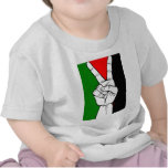 PALESTINE FLAG PEACE SIGN TEE SHIRTS