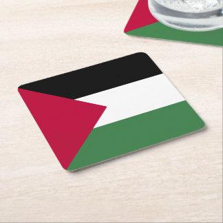 Palestine Flag Square Paper Coaster