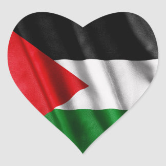 Palestine Flag Heart Stickers
