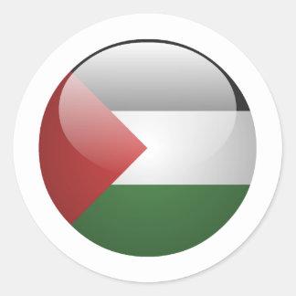 Palestine Flag Round Stickers