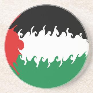 Palestine Gnarly Flag Sandstone Coaster