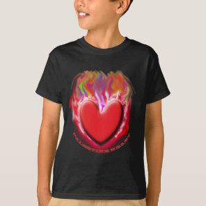 PALESTINE HEART On Black T-Shirt