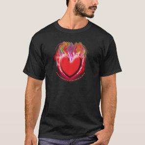 PALESTINE HEART On Black T-Shirt