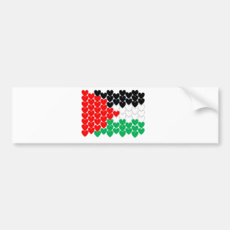 Palestine hearts bumper sticker