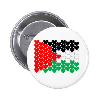Palestine hearts buttons