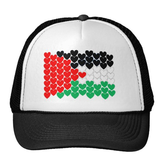 Palestine hearts trucker hat