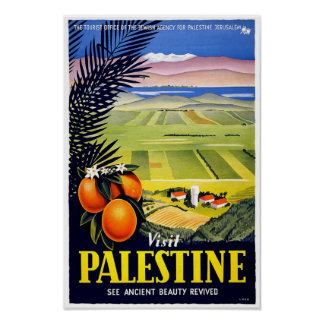 Palestine Holy Land Vintage Travel Art Poster