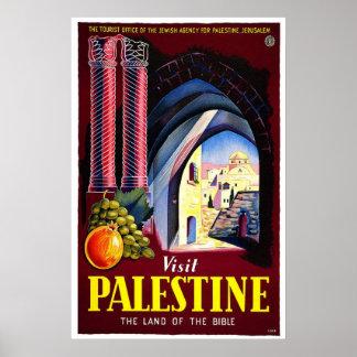 Palestine Holy Land Vintage Travel Art Poster