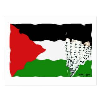 Palestine Intifada Flag Postcard