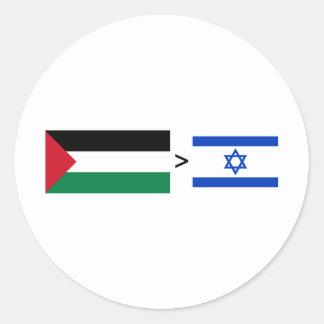 Palestine > Israel Classic Round Sticker