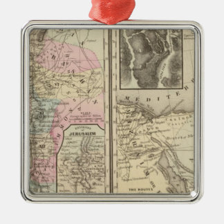 Palestine, Israelites Square Metal Christmas Ornament