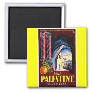 Palestine, Jerusalem 2 Inch Square Magnet