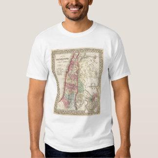 Palestine, Jerusalem Map by Mitchell Tee Shirt