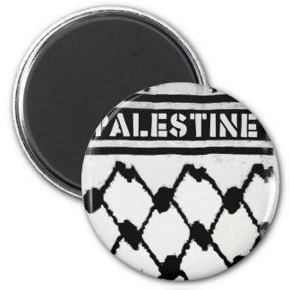 Palestine Keffiyah 2 Inch Round Magnet