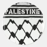 Palestine Keffiyah Classic Round Sticker