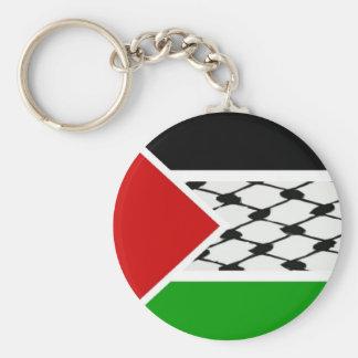 Palestine Keffiyeh Flag Basic Round Button Keychain