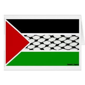 Palestine Keffiyeh Flag Card
