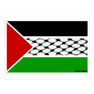 Palestine Keffiyeh Flag Postcard