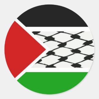Palestine Keffiyeh Flag Round Sticker