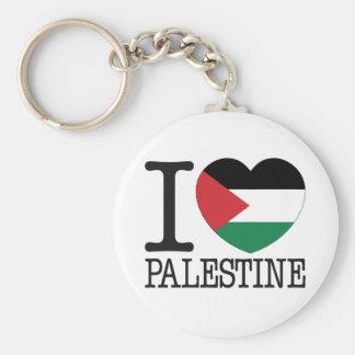 Palestine Love v2 Basic Round Button Keychain