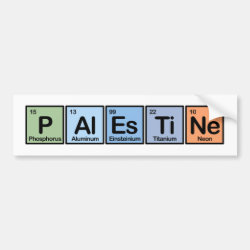 Bumper Sticker with Palestine design