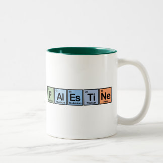Palestine made of Elements Two-Tone Coffee Mug