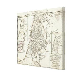 Palestine Map Canvas Print