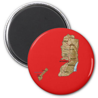 Palestine Map Magnet