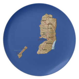 Palestine Map Plate