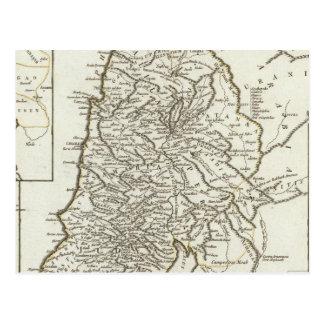 Palestine Map Postcard