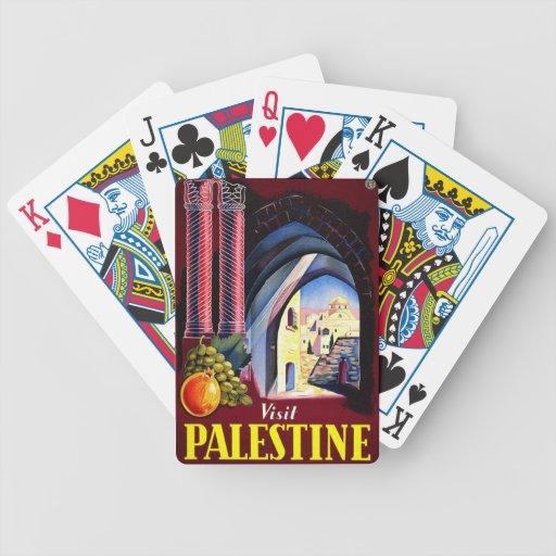 Palestine Mediterranean Vintage Travel Bicycle Playing Cards