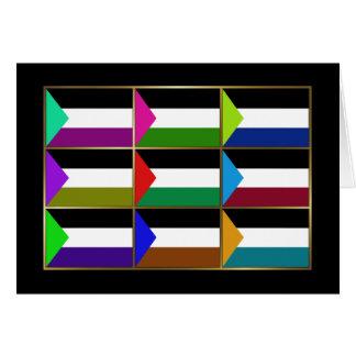 Palestine Multihue Flags Greeting Card